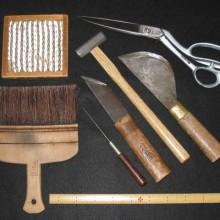 表具の仕事に使う代表的な道具