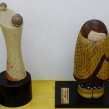 「天子の笑顔」(左)と「角巻」(右)