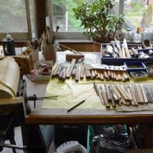 たくさんの作品を生み出した作業場